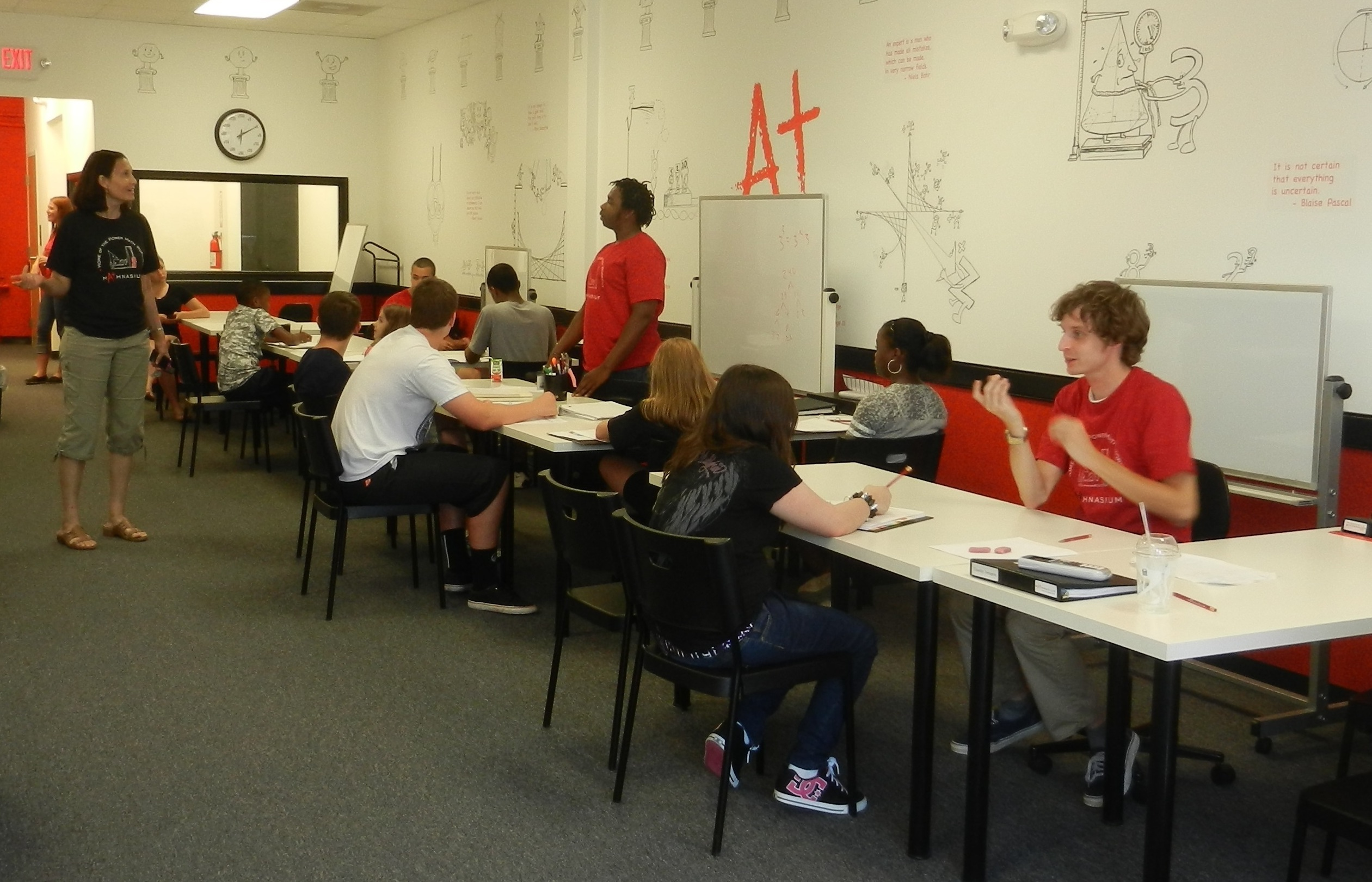 Chesapeake instructors working with students
