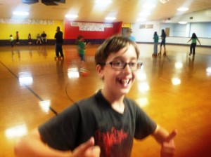 Goldsboro skating party thumbs up