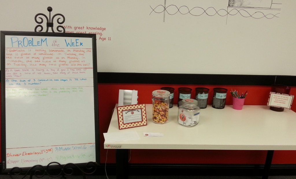 Southlake Problems of the Week, Estimation Jar, Nerd Award