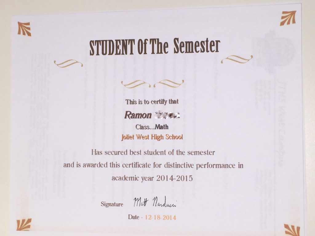 Ramon Student of the Semester