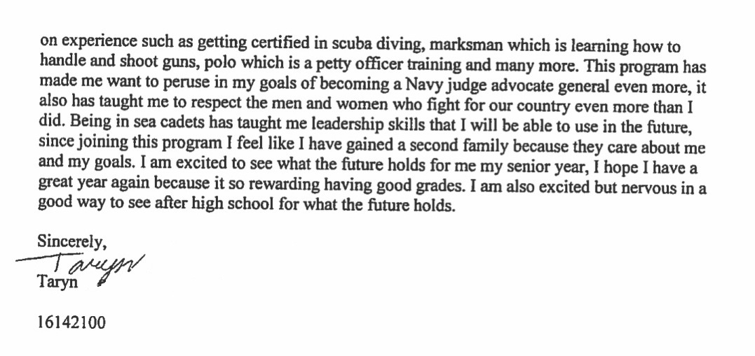 Elk Grove - Student testimonial page 2