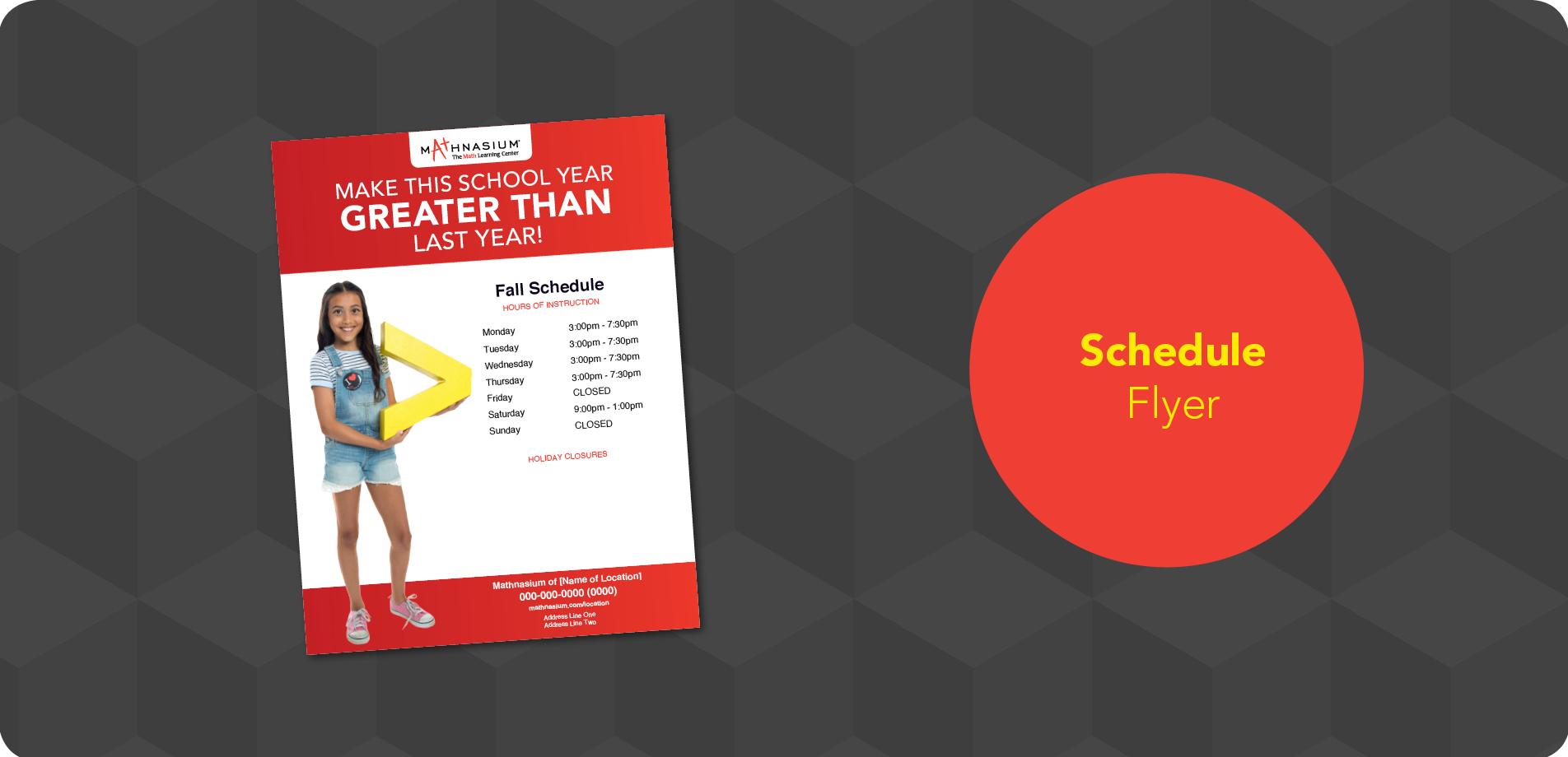 Back-to-School Schedule Flyer
