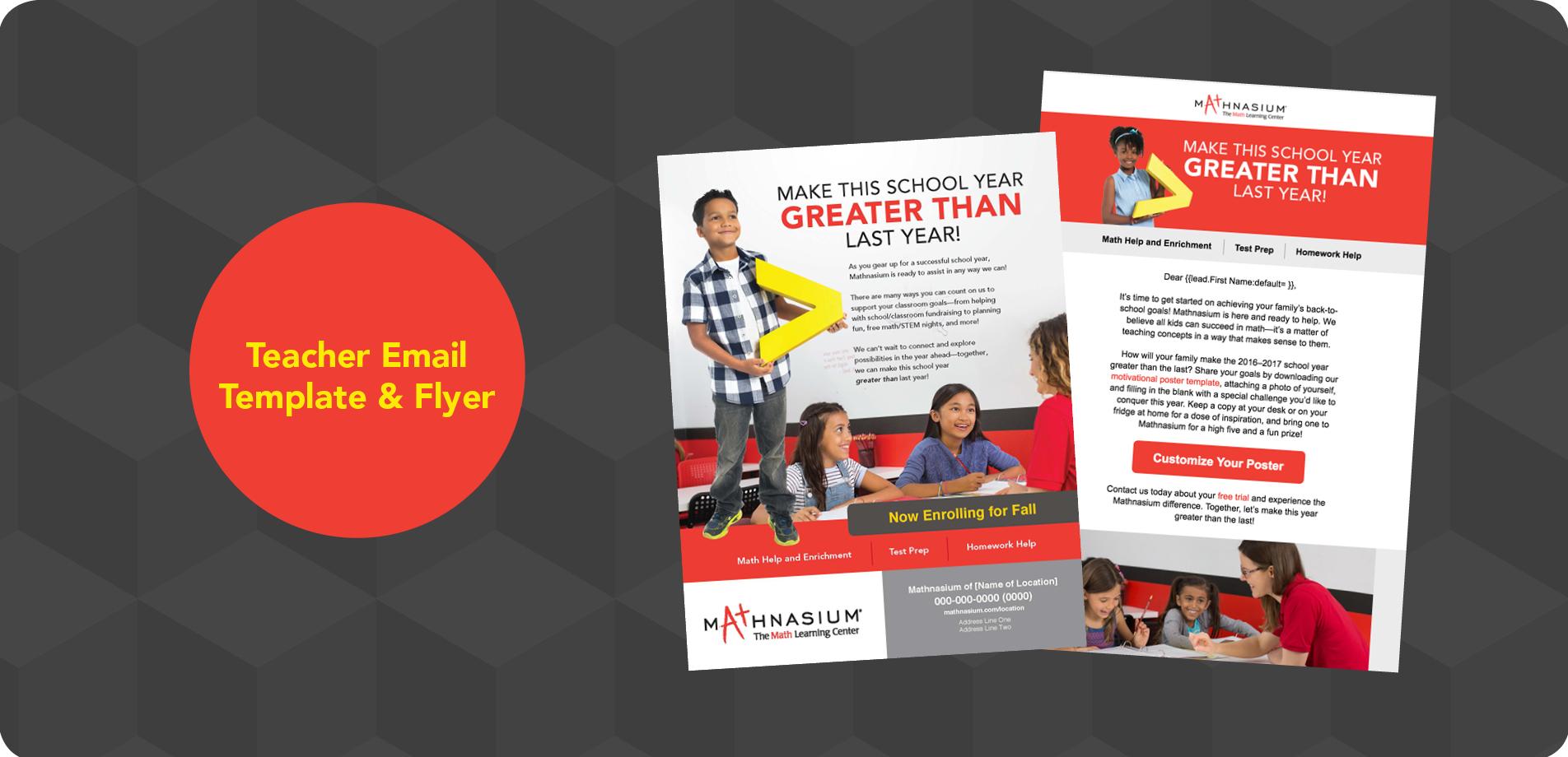 Back-to-School Teacher Flyer & Email Sample